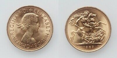 Grossbritanien Elisabeth II. Sovereign 1967 Gold