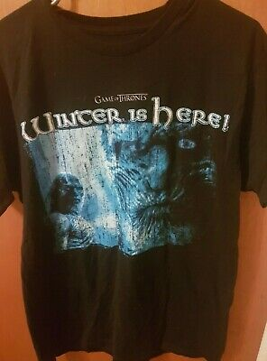 HBO Game Of Thrones Winter Is Here Black Men's T-Shirt L