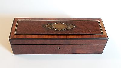 19th C. Napoleon III French Glove Box, Boulle Inlaid Decoration