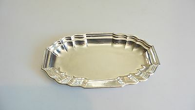 "VINTAGE INTERNATIONAL '""WINDSOR"" STERLING SILVER 10.75"" BREAD TRAY, 284 grams"