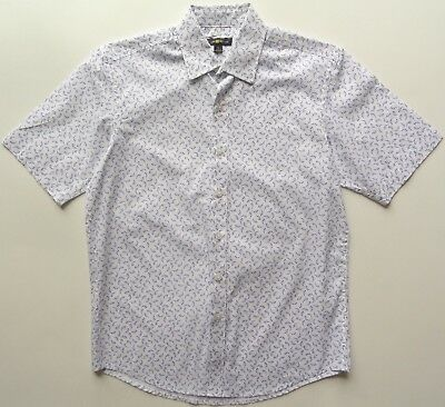 NWT $49.50 Mens Club Room Short Sleeve Button Front Shirt Size Medium or Large
