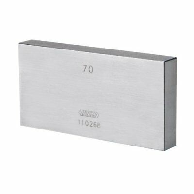INSIZE 4101-C750 Individual Steel Gage Block, grade 2 with inspection certificat