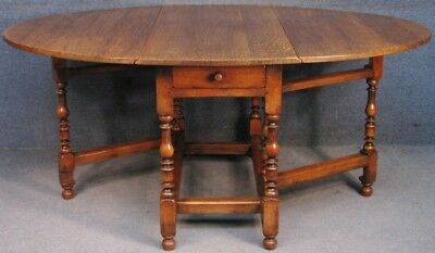 Titchmarsh And Goodwin Solid Oak Drop Leaf Dining Table
