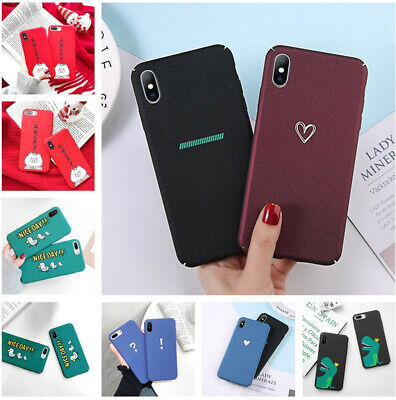 For iPhone XS Max XR X 8 7 6 Plus Cute Pattern Matte Ultra Thin Hard Case Cover