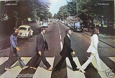 "Beatles ""abbey Road - Classic Shot Of Group Walking Across The Street"" Poster"