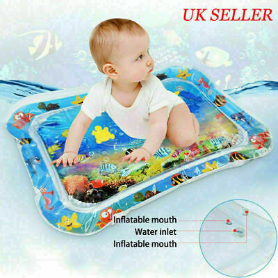 Inflatable Water Play Mat Infants For Baby Toddlers Mattress Splash Tummy Time