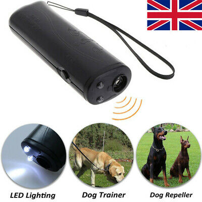 Ultrasonic Anti Barking Pet Dog Repeller Train Device Bark Stop Trainer with Led