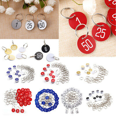 50/100Pcs 3cm Number Discs Table Tags Locker Pub Restaurant Club