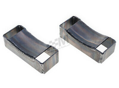 Weld in Floor Mounted Hand Held Fire Extinguisher Bottle Mounting Brackets Pair