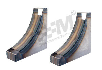 Weld in Floor Mounted Plumed In Fire Extinguisher Bottle Mounting Brackets Pair