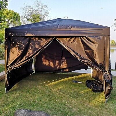 Gazebo Canopy 3x3m Foldable Pop Up Garden Marquee Tent Outdoor Party Wedding UK