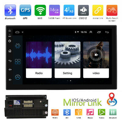 7'' HD Touch Screen Android 8.1 GPS Navi WIFI SWC Car Stereo MP5 Player FM Radio