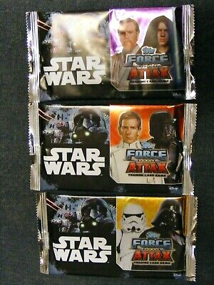 2017 Star wars Universe Topps cards 3 packets New unopened Force Attax