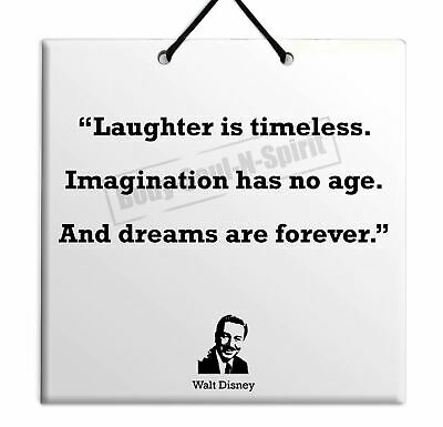 Walt Disney QUOTE TABLET Ceramic Wall Hanging TILE Plaque Home Decor Gift Sign