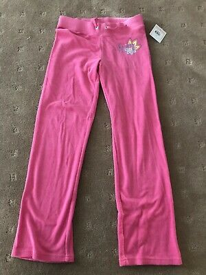 Juicy Couture Girls Pink Terry Towelling Girls Track Pants Size 10 Years  Bnwt