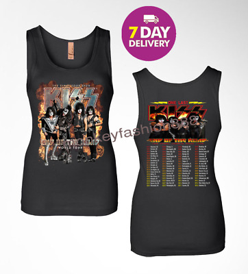 KISS band T-Shirt End of the Road Farewell Tour 2019 Black Women T Shirt.S-2XL.