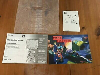 Sony PlayStation PS One Console Instruction Manual SCPH-102B English Pal Lot C