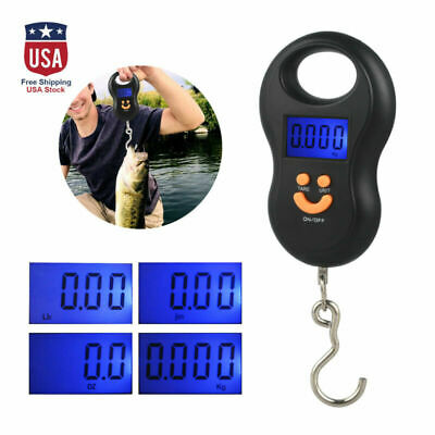 110 lb Digital Luggage Scale Hand Held Checked Airport Baggage Bag Carry On LCD