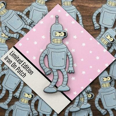 Bender Futurama Patch Thermocollant I Fer sur Patch I Embroidered Iron On Brodé