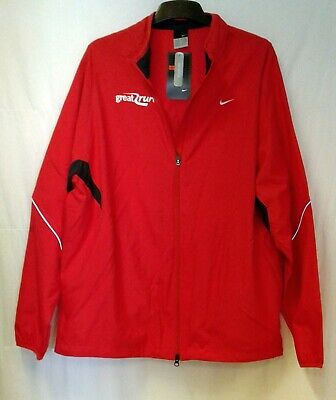 NIKE Men's 'Great Run' Red Reflective Running Jacket, Size XL NWT (06)
