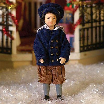 """DOLLS HOUSE DOLL 1/12th SCALE """" VICTORIAN""""  BOY  IN  SAILOR SUIT"""