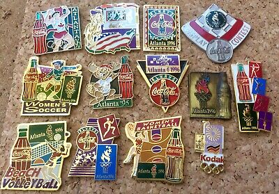Lot 13 PINS PIN'S COCA COLA COKE OLYMPIQUE OLYMPIC ATLANTA 96 Pin Olympic Games