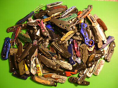 Ntsa Lot Of 100+ Mixed Brands & Types Of Pocket Knives 19+ Pounds