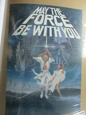 May The Force Be With You Star Wars Movie Vintage Poster Garage 1977 Cng274