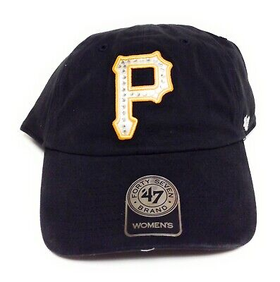 12ee39860ec374 Womens '47 Brand Pittsburgh Pirates Rhinestones Baseball Adjustable MLB Hat  Cap