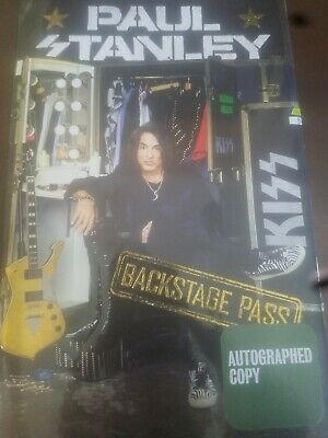 PAUL STANLEY SIGNED book Backstage Pass Kiss band autographed auto 2019 new