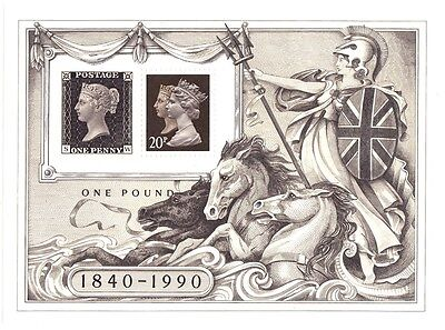 Great Britain 1990 Penny Black  Miniature Sheet Unmounted Mint 150th Anniversary
