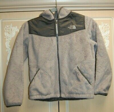 99a1a3428 GIRL THE NORTH Face Pink Gray Oso Fleece Jacket Coat Fall Size M 10 ...