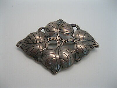 Wonderful Old Arts & Crafts Kalo Sterling Silver Hand Wrought Pin / Brooch #108