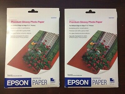 "Set of Epson Premium High Glossy Photo Paper 5"" x 7"" 20 Sheets S041464"