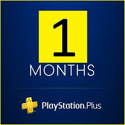1 Months PlayStation PS Plus PSN PS4-PS3 -Vita (NO CODE) Read Description