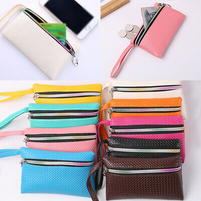 Hot Women Mini Purse Wallet Pouch Card Key Ring Leather Zipper Small Coin Purses