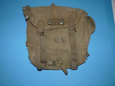 Ww2 Usmc Us Marine Corps Us Army M-1945 Invasion Combat Field Pack Solder Name