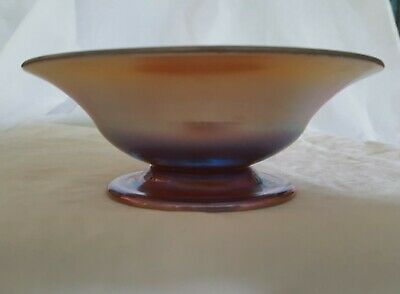 Signed L C Tiffany Footed Art Glass Favrile Bowl NO RESERVE!