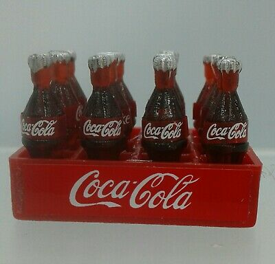 1:12th Miniature Doll House Accessories Crate of Coke with 12 Removable Bottles