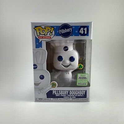 Funko Pop Pillsbury Doughboy Shamrock #41 Ad Icons ECC Exclusive Brand New