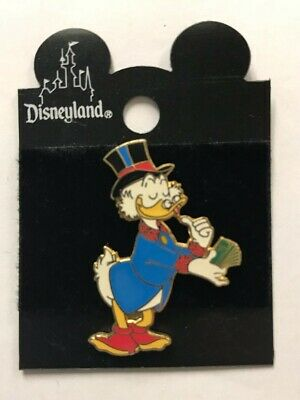 Disney Parks Authentic Disneyland Scrooge McDuck Counting His Money Pin