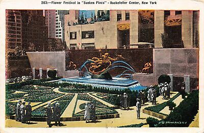C20-5843, Flower Festival In Sunken Plaza, Rockefeller Center, N.y..