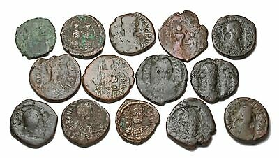 BYZANTINE. Lot of 14, all follis. Variety of types and emperors. All large M