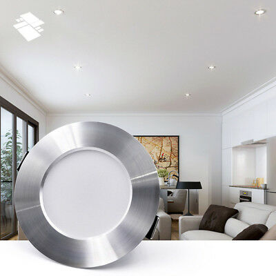 LED Silver Ceiling Downlight Dimmable Recessed Spot Light 5-15W Lamp Fixture