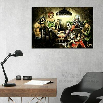 Joker And Harley Quinn Painting Hd Print On Canvas Home