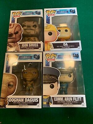 POP! MOVIES VALERIAN VINYL NEW FIGURES FUNKO COLLECTIBLES LOT Of 4