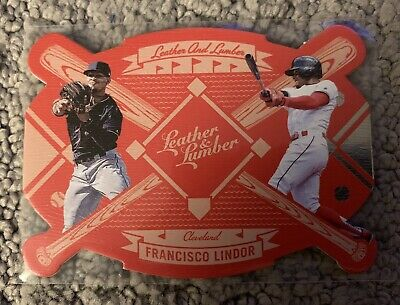 2019 Panini Leather And Lumber Francisco Lindor DIE CUT INSERT Indians