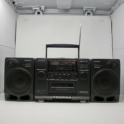 Vintage Sony Boombox CD Player, AM FM Radio, Cassette, Mega Bass CFD-510