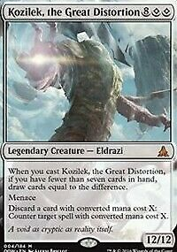 KOZILEK, THE GREAT DISTORTION Oath of the Gatewatch MTG Creature— Eldrazi Mythic