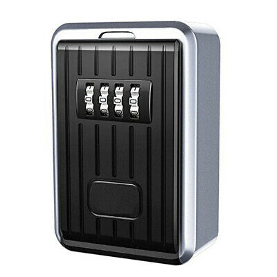 3X(Lock Box 4 Digit Combination Waterproof Box Aluminum Alloy Weather ResisO1C8)